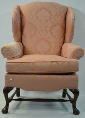 Queen Anne Style Wing Back Chair