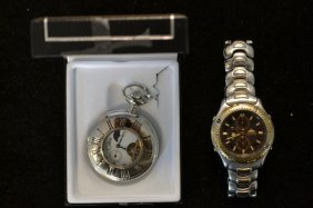 Men's Citizen Wrist Watch & Colibri Pocket Watch