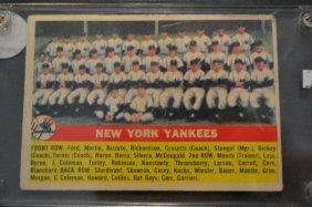 1956 Topps New York Yankees Team # 251