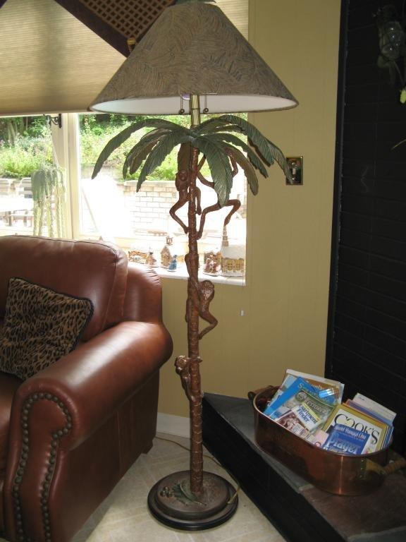 134 Frederick Cooper Palm Monkey Floor Lamp Lot 134