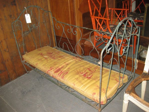 antique wrought iron daybed  1
