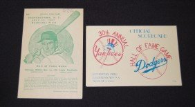 2 Cooperstown NY Scorecards (1957 And 1972)