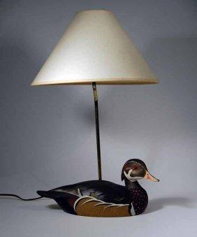 Ken Harris Wood Duck Lamp