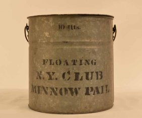 New York Club Galvanized Minnow Bucket