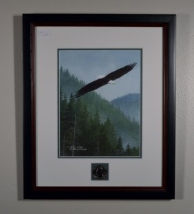 2006 Bald Eagle Print With Quarter