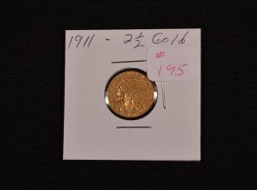 1911 U.s. Two And A Half Dollar Gold Coin
