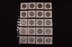 20 U.s. Silver Half Dollars (1937-1964)