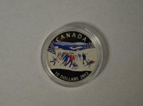 2013 Canadian $10 Fine Silver Coin - Winter Scene