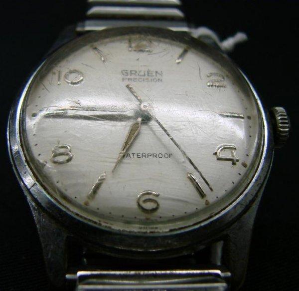 209 vintage gruen precision wrist watch waterproof i. Black Bedroom Furniture Sets. Home Design Ideas