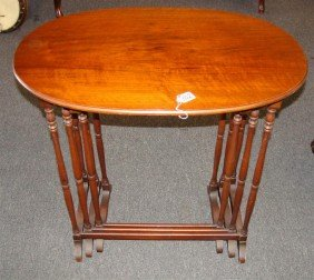 3 Mahogany Nesting Tables By Imperial Furnitu