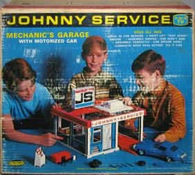 BOXED JOHNNY SERVICE MECHANIC'S GARAGE SET