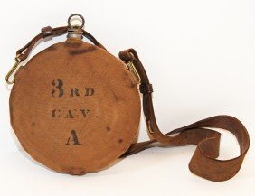 INDIAN WARS CANTEEN WITH LEATHER SLING
