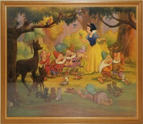 LARGE PRINT FROM SNOW WHITE CIRCA 1940