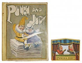 PUNCH & JUDY BOOK WITH SMALL MECHANICAL THEATRE