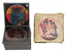 BOXED SET OF PUNCH & JUDY MAGIC LANTERN SLIDES