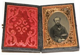 CIVIL WAR RUBY AMBROTYPE OF SOLDIER