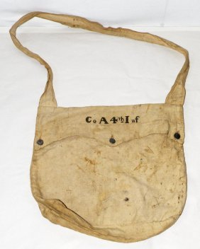 CANVAS HAVERSACK CO. A 4TH INF