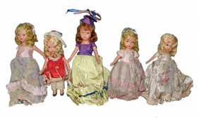 FIVE EARLY STORYBOOK DOLLS