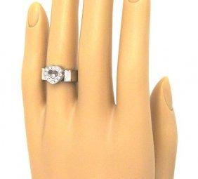 LADIES 18KT W.G. CHOPARD HAPPY DIAMOND RING