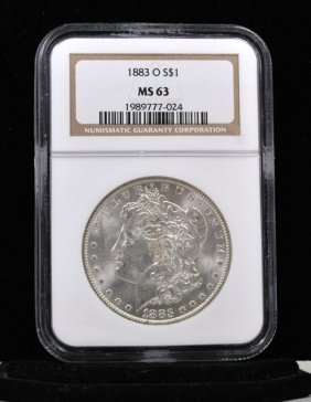 1883 O $1 MORGAN SILVER DOLLAR MS 64
