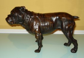 Antonie -louis Barye French Bronze Sculpture Of Dog