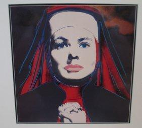 Andy Warhol Color Photo Ingrid Bergman