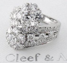 Van Cleef & Arpels Pt 950 Snowflake Double Flower