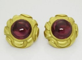 2001 Barry Kieselstein Cord Tourmaline 18k Yellow Gold