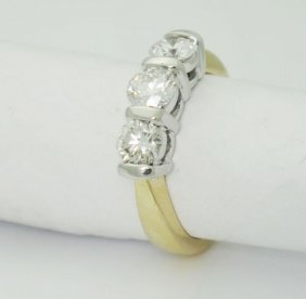 18k Yellow Gold 1.05ct Vs/si H/i Past Present Future