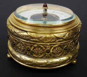 Antique Russian Silver & Guilloche Barometer