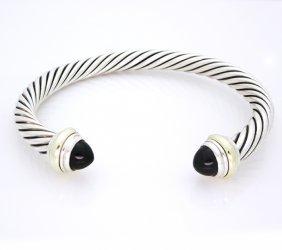 David Yurman 14k Gold Silver Cable Bracelet