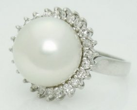 Platinum 900 South Sea Gem Grade Pearl 0.60 Carat Vs