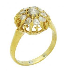 Edwardian 21k Gold 1.00 Ct Tcw Diamond Flower Ring