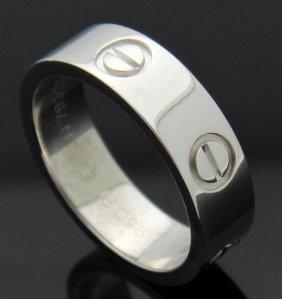 Cartier Platinum 950 Love Wedding Band Ring Size 6.25