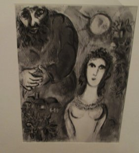 1960 Marc Chagall Bible Series Heliogravure