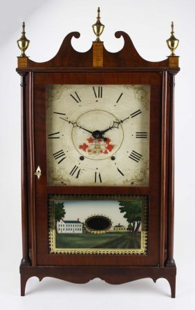 Mark Lane- Southington, Ct Pillar & Scroll Clock, Ht