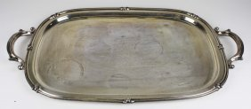 "Sterling Silver Serving Tray. Marked On Bottom ""fisher"