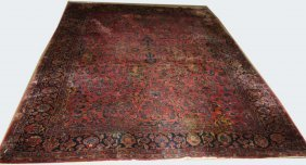 "Early 20th C Sarouk Main Carpet, 9'2"" X 11'11"""