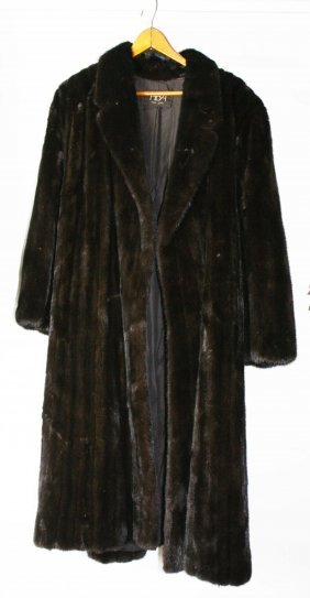 Mid 20th C Full Length Mink Coat, Size 4