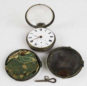 1811 English Silver Cased Key Wind Pocket Watch, Case