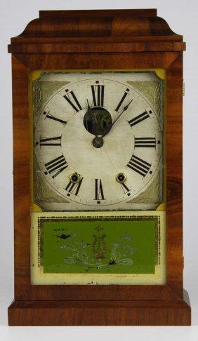 Mid 19th C Charles Kirke Mahogany Cased Shelf Clock, Ht
