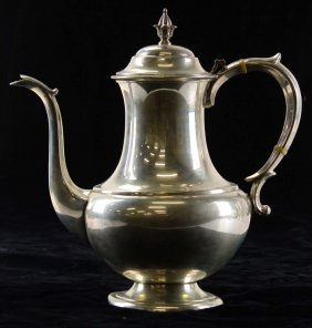 "Reed & Barton ""the Pilgrim"" Sterling Coffee Pot. 10""h."