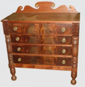 Vt Classical Mahogany And Birch Chest Of Drawers,