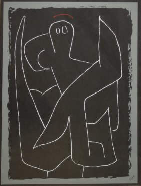 Paul Klee (swiss 1879-1940) Biomorphic Litho Signed In