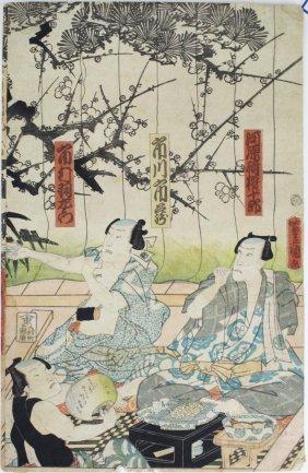 19th C Toyo Kouni (1768- 1825) Japanese Ukiyo-e