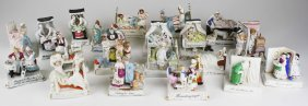 Collection Of 20 German Porcelain Comic Marriage Scene