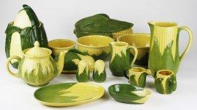 "24 Pcs Shawnee Ohio Pottery ""corn King"" Dinnerware"
