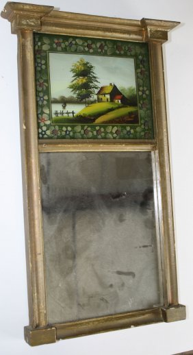 Sheraton Split Panel Mirror With Hudson River School