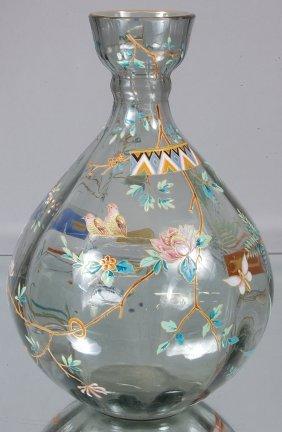 Victorian Enameled Vase