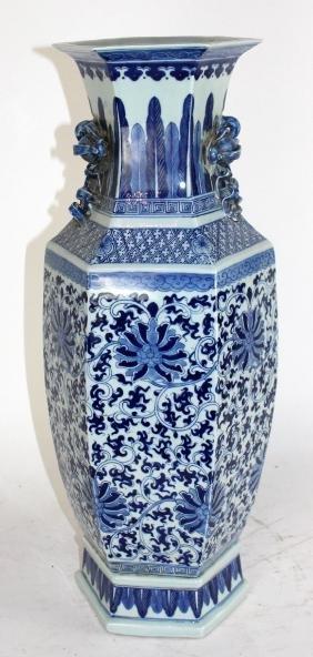 Chinese Porcelain Hexagonal Vase